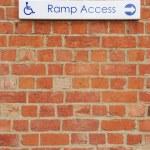 Ramp access sign — Stock Photo