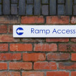 Ramp access sign — Stock Photo #3906051