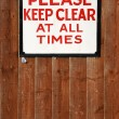 Stockfoto: Keep clear vintage sign
