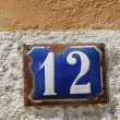 Stock Photo: House number: 12