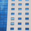 Office building (glass and concrete pattern) — Stock Photo