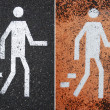 Pedestrian signs — Stock Photo