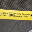 Exit and baggage claim sign — Stock Photo