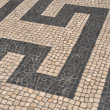 Portuguese sidewalk pavement — Stockfoto