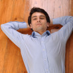 Man lying on the floor — Stock Photo #3907240