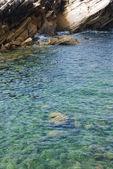Beautiful lagoon with green ocean water — Stock Photo
