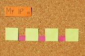 Mi concepto de protocolo de internet — Foto de Stock