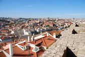 Cityscape of Lisbon in Portugal (Sao Jorge Castle view) — Stock Photo