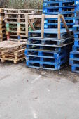 Wooden pallets — Foto Stock