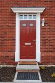 Red brick house (entrance detail) — Stock Photo