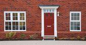 Dom z czerwonej cegły — Zdjęcie stockowe