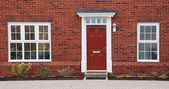 Red brick house — Foto Stock