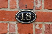 House number: 18 — Stock Photo