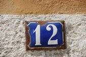 House number: 12 — Stock Photo