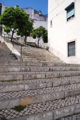 Sao Miguel stairs in Lisbon — Stock Photo