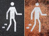 Pedestrian signs — Stock Photo