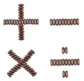 Chocolate arithmetic operations — Stock Photo