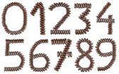 Chocolate numbers — Stock Photo