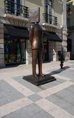 Estatua de fernando pessoa en lisboa — Foto de Stock