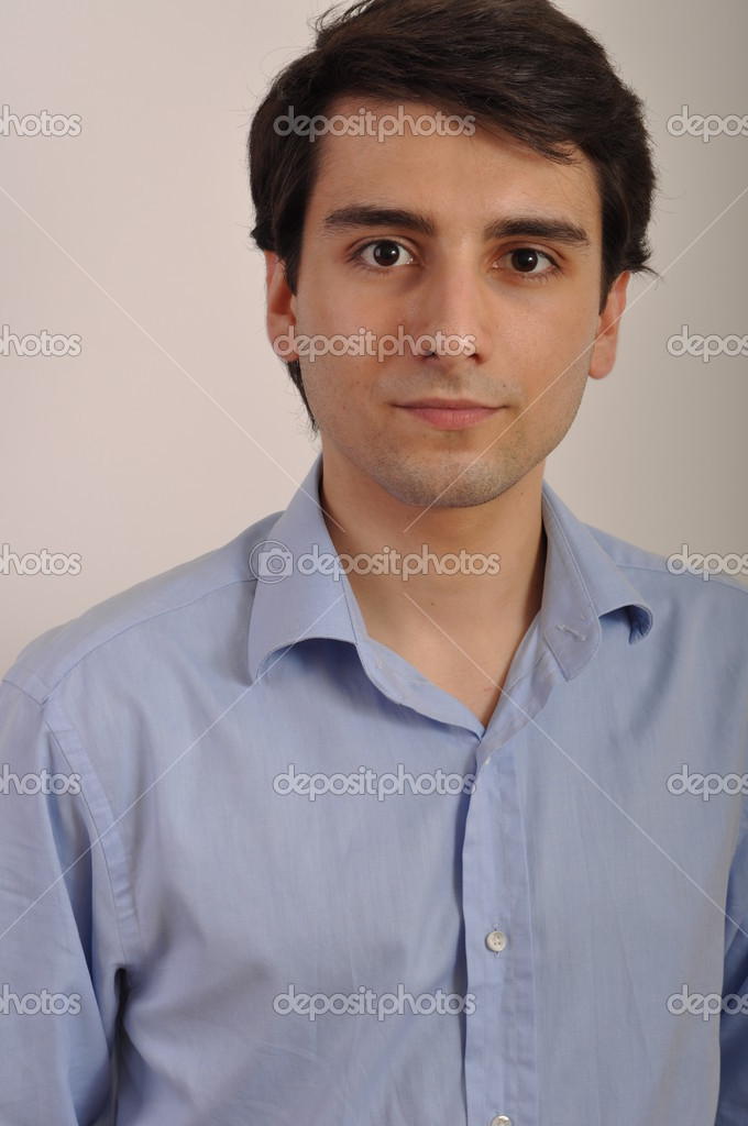 Portrait of a handsome young trainee starting business career — Stock Photo #3907262