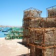 Old fishing cages in port of Cascais, Portugal — Stock Photo #3910513