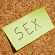 Stock Photo: Sex keyword on cork board
