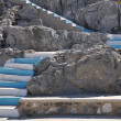 Greece stairs - Stock Photo