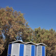 Stock Photo: Portable toilets