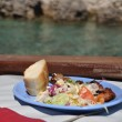 Lunch on boat — Stock Photo