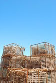 Old fishing cages in the port of Cascais, Portugal — Stock Photo