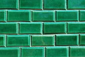 Green antique mosaics background — Stock Photo