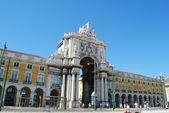 Plaza del comercio en lisboa, portugal — Foto de Stock