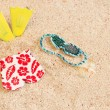 Bathing suit on the beach — Stock Photo