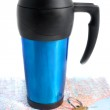 Road travel and coffe mug — Stock Photo #2727854