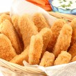 Golden chicken fingers - Stock Photo