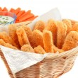 Golden chicken fingers — Stok fotoğraf