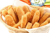 Golden chicken fingers — Stock Photo