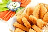 Deditos de pollo dorado — Foto de Stock