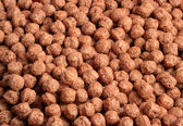 Close-up ofchocolate cereal bits — Stock Photo