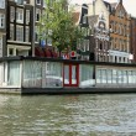 Amsterdam house boat — Stock Photo