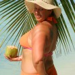 Tropical beach woman — Stock Photo #2734033