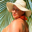 Tropical beach woman — Stock Photo #2734040