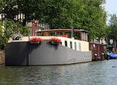 アムステルダムのハウスボート — ストック写真