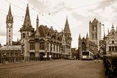 Gothic buildings — Stock Photo
