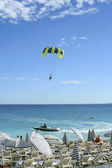 Watersports at a beach in Nice, France — Stock Photo