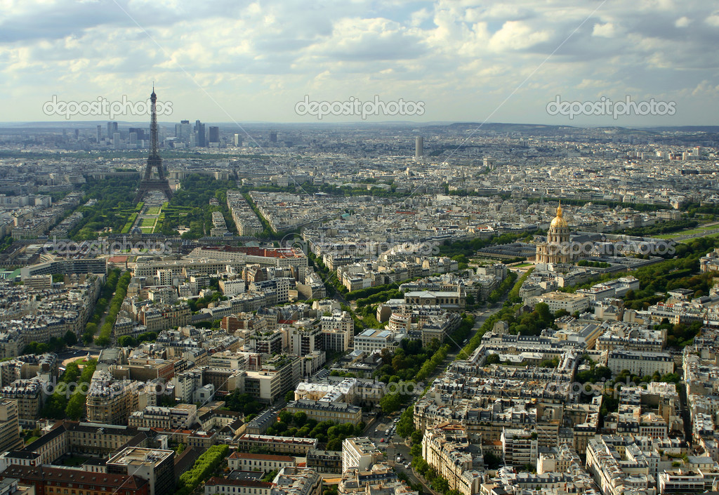 Overhead view of Paris, France — Stock Photo #2774266