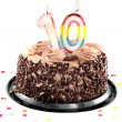 Tenth birthday or anniversary — Stock Photo