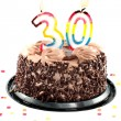 Thirtieth birthday or anniversary - Stock Photo