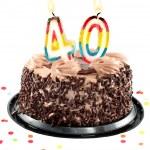 Fortieth birthday or anniversary — Stock Photo #3186617