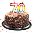 Seventieth birthday or anniversary - Stock Photo